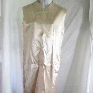 NWT New CELINE Sleeveless Satin Mini Dress PEARL